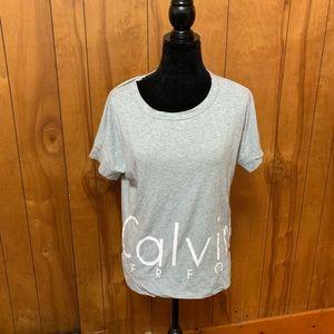Calvin Klein grey performance logo T-shirt xs